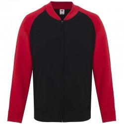 Plain Lightweight baseball sweatshirt jacket Fruit Of  The Loom 240 GSM