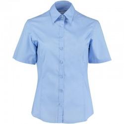 Plain Business Shirt Ladies Short Sleeve Kustom Kit 105 GSM