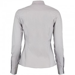 Plain Business Shirt Ladies Long Sleeve Kustom Kit 105 GSM