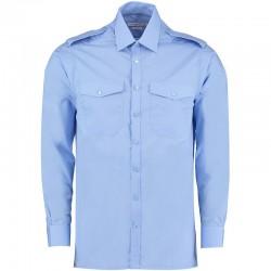 Plain Pilot Shirt Long Sleeve Kustom Kit 105 GSM