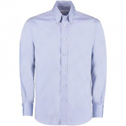 Plain Oxford Shirt Long Sleeve Tailored Kustom Kit 125 GSM
