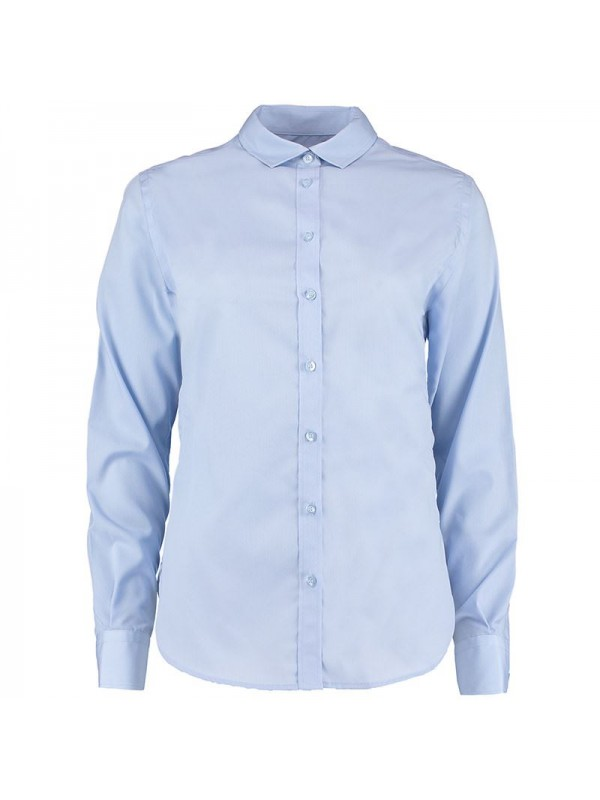 Plain Women 39 S Non Iron Shirt Long Sleeve Kustom Kit 125 Gsm