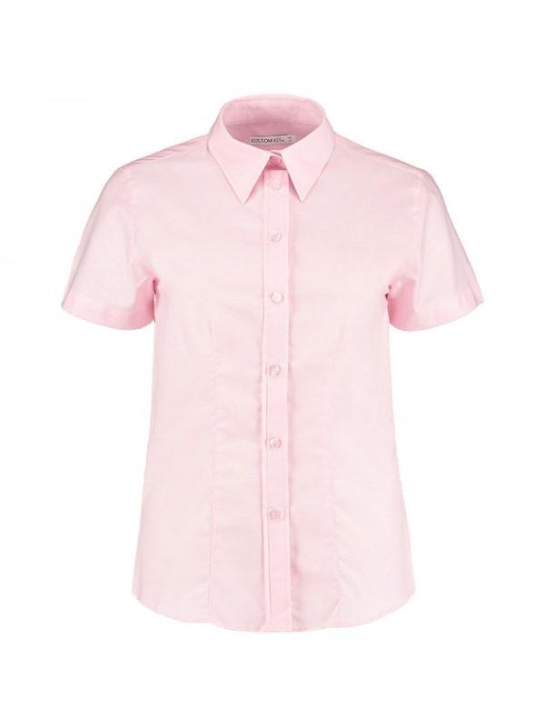 Plain oxford shirt ladies short sleeve kustom kit 135 gsm for T shirt printing oxford