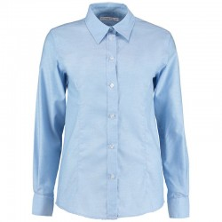 Plain Oxford Shirt Long Sleeve Kustom Kit 135 GSM