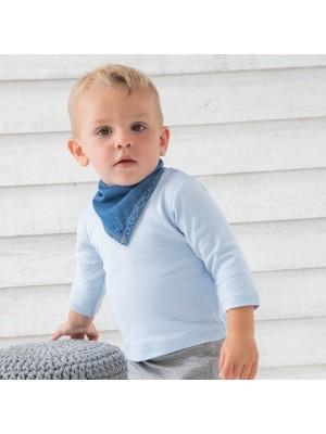 Sustainable & Organic Babywear Baby Rocks denim bandana bib Kids  Ecological BABYBUGZ brand wear