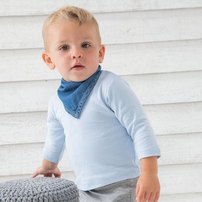 Sustainable & Organic Babywear Baby Rocks denim bandana bib Kids  Ecological BABYBUGZ brand wear