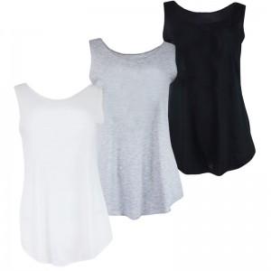 A LADIES Summer YOGA ONE SIZE TANK Vests t shirts - Stars & Stripes