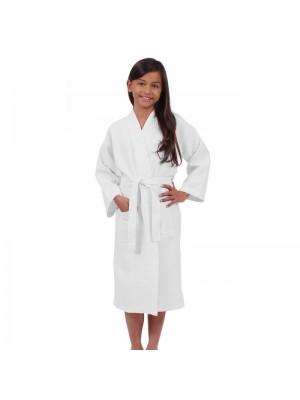 Kids WAFFLE weave 100% Cotton Bathrobes
