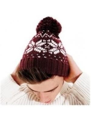 Beanie Fair Isle Snowstar Beechfield Headwear