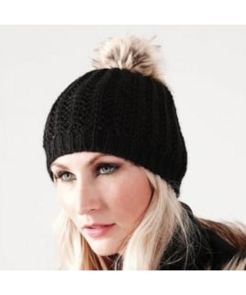 Pom Beanie Faux Fur Beechfield Headwear