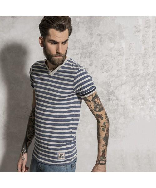 Plain t-shirt stripe contrast Brave Soul Boson