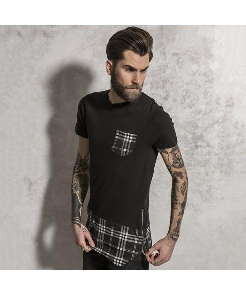 Plain t-shirt long length Brave Soul Simon