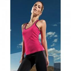 Plain fitness vest Women's panelled TriDri  135 GSM