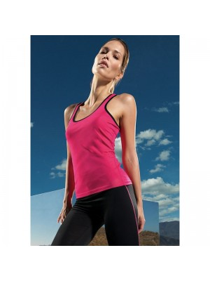 Plain fitness vest Women's panelled TriDri  135 GSM
