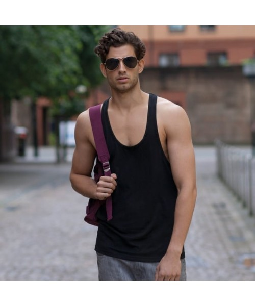 Plain vest Muscle Skinnifit Men 140 GSM