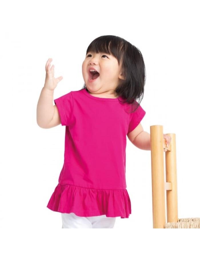 Plain t-shirt frill Larkwood 160gsm Kids
