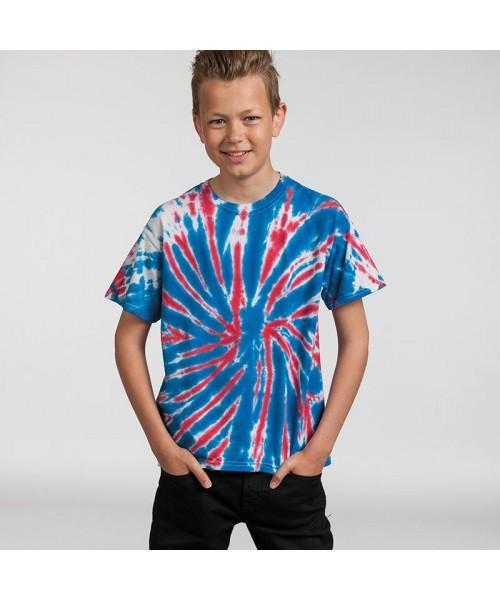 Plain shirt Kids rainbow Tie-Dye 5.3oz