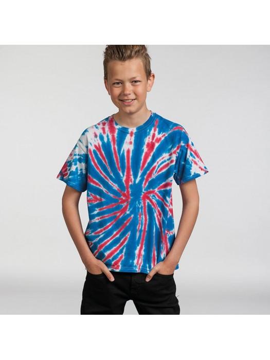 Plain shirt Kids rainbow Tie-Dye 5.3oz GSM