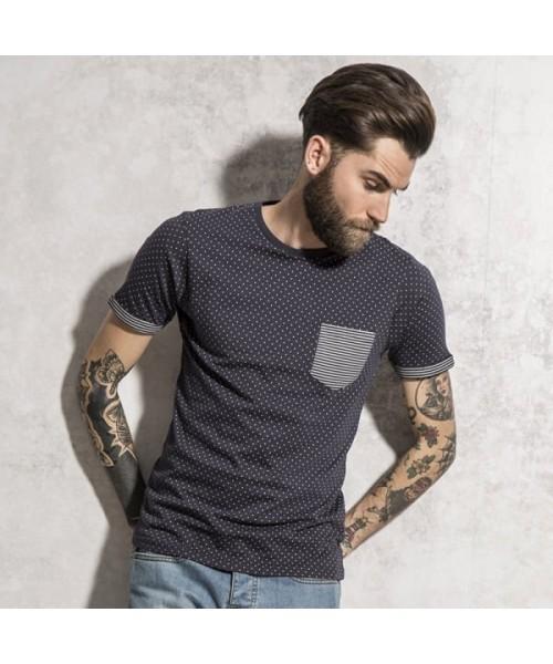 Plain t-shirt polka dot  Brave Soul 140gsm