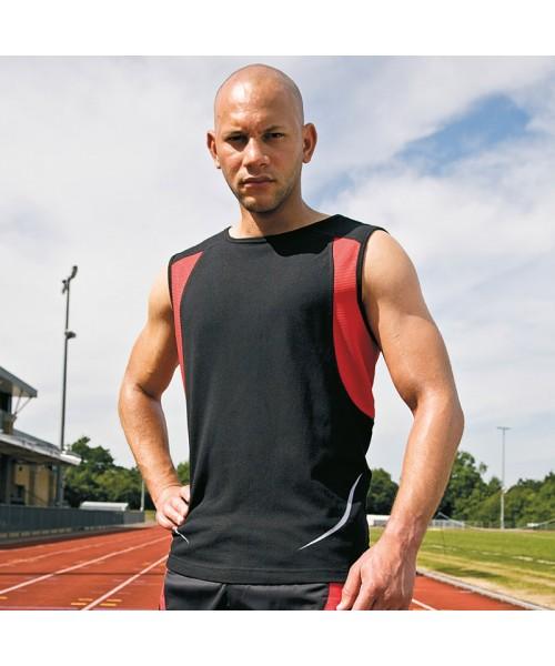 Plain vest sport athletic Spiro 140 GSM