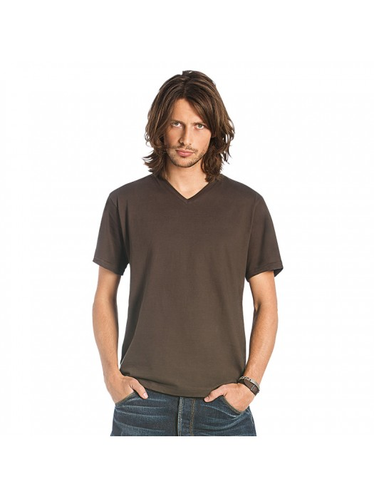 Plain T-Shirt V Neck B and C Collection  145 gsm GSM