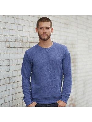 Plain French terry sweatshirt crew neck Anvil 237 GSM