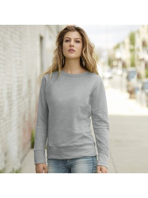 Plain French terry sweatshirt women's mid-scoop Anvil 237 GSM