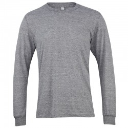 Long Sleeve Unisex Ribbed Neckline T-shirt