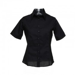 Plain Women's business blouse short sleeve Kustom Kit 105 GSM