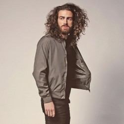 Plain Sanjay - Bomber jacket with ribbed cuff Brave Soul