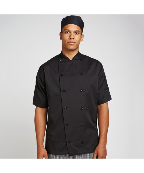 Plain Short sleeve executive jacket Lechef  Professional 200 GSM