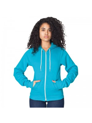 Plain fleece zip hoodie Flex American Apparel 278 GSM