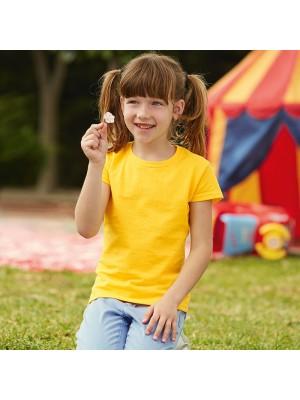 3793cf7c549 Plain T-Shirt Girls Value Fruit of the loom White 160gsm