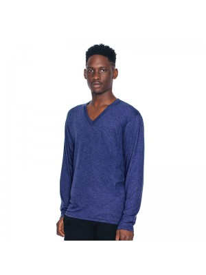 Plain V-Neck Long Sleeve American Apparel 125 g/m2