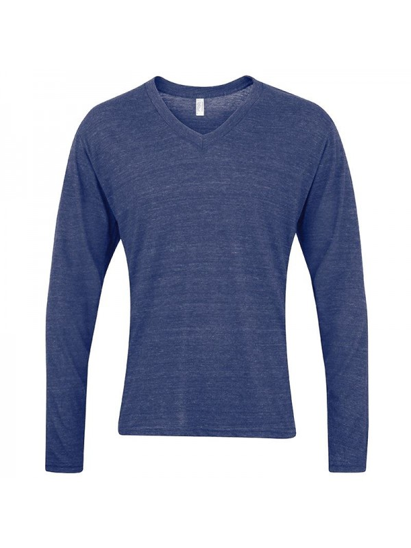 Plain v neck long sleeve american apparel 125 g m2 for American apparel plain t shirts bulk