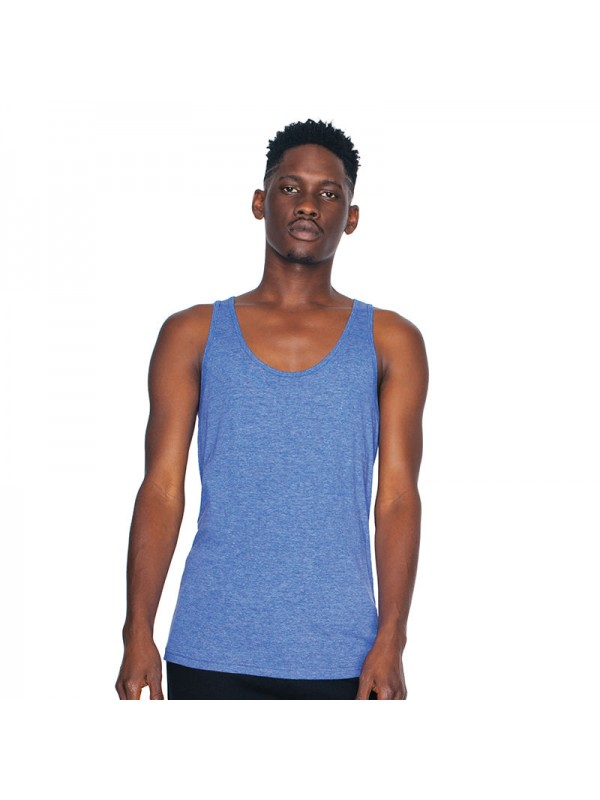 Plain tri blend tank american apparel 125 gsm for American apparel plain t shirts bulk