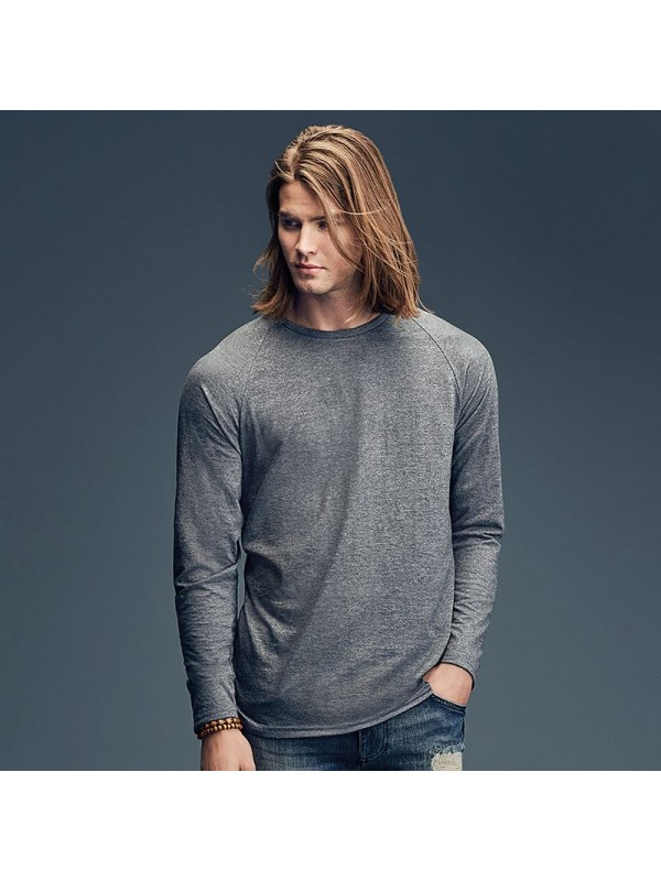 Plain long and lean raglan long sleeve tee anvil fashion for American apparel plain t shirts bulk