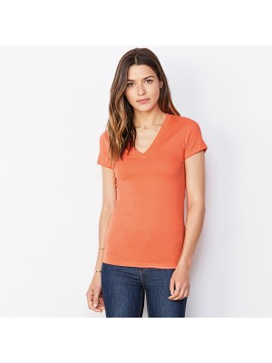 Plain Jersey deep v-neck t-shirt Bella+Canvas 145 GSM
