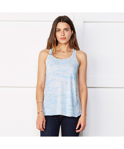 Plain Flowy racerback tank top Bella +Canvas 125 GSM