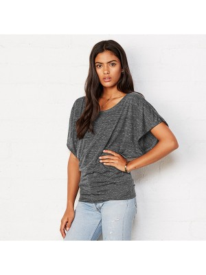 Plain Flowy draped sleeve dolman t-shirt Bella +Canvas 125 GSM