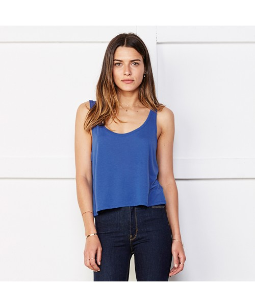Plain Flowy boxy tank top Bella +Canvas 125 GSM