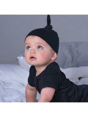 Plain Baby one knot hat Baby Bugz 200 GSM