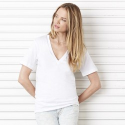 Plain deep v-neck t-shirt Unisex Jersey BELLA+CANVAS 145 GSM