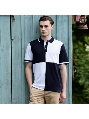 Plain Quartered piqué polo shirt - tag-free Front Row & Co 200 GSM