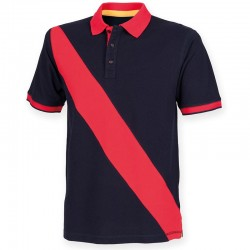 Plain 100% Cotton KIDS DIAGONAL STRIPE HOUSE PIQUE POLO SHIRT Front Row 200 GSM