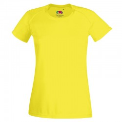 Plain tee Lady-fit performance FRUIT of the LOOM 140 GSM