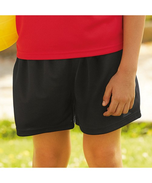 Plain Kids performance shorts Fruit Of The Loom 140 GSM