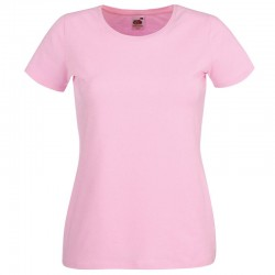 Plain tee Lady-fit crew neck FRUIT of the LOOM 200 GSM
