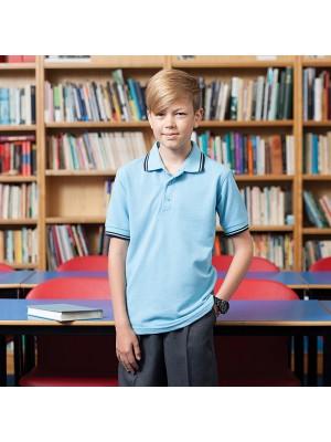 Henbury Kids Big Boys 65//35 Contrast Tipped Polo Shirt