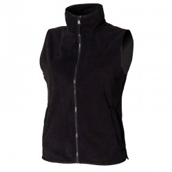 Plain microfleece jacket Women's sleeveless Henbury 280 GSM